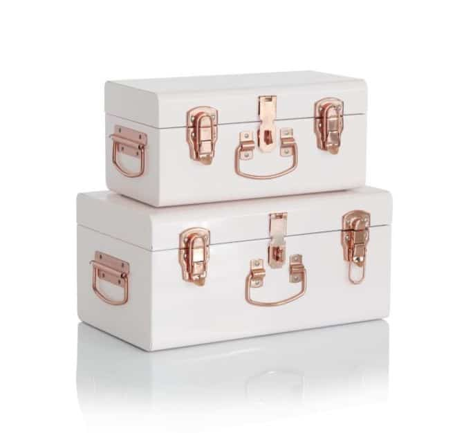 Mini White Storage Cases