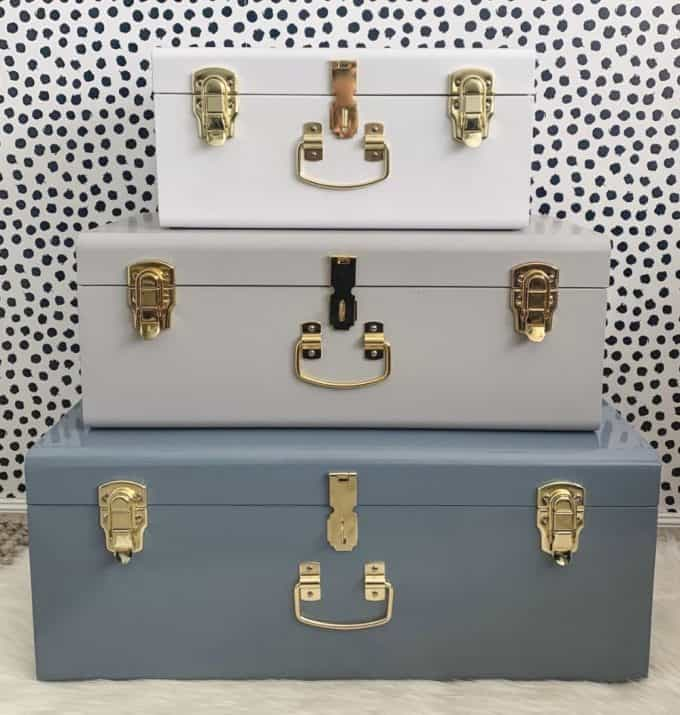 Duck Egg Blue Storage Cases