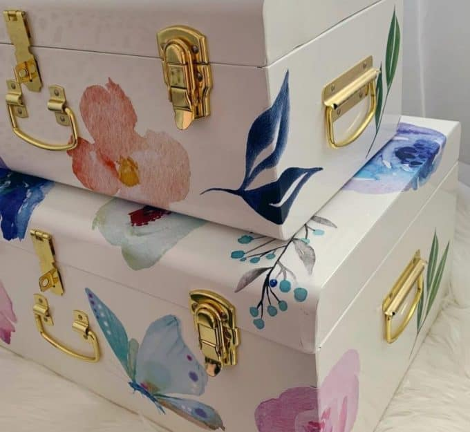 Floral Decal Set for Storage Cases
