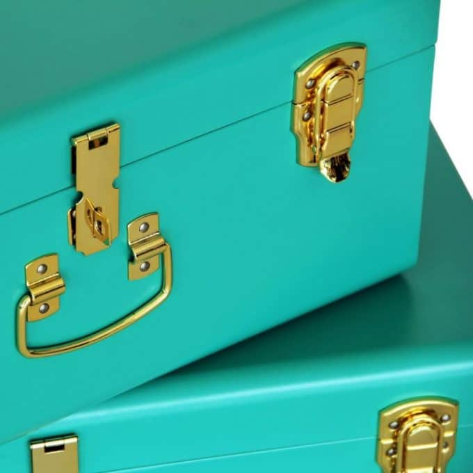 Green & Gold Storage Cases