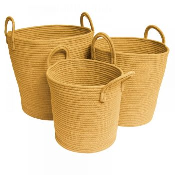 Cotton Rope Baskets - Mustard