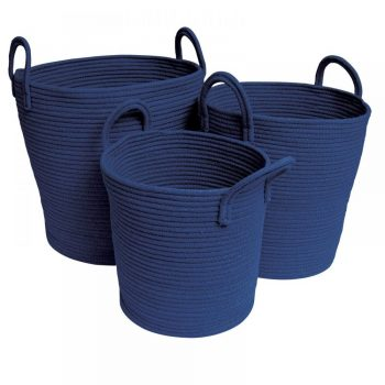 Cotton Rope Baskets - Navy