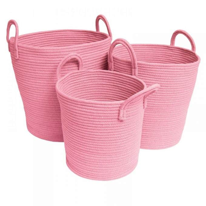 Cotton Rope Baskets - Pink