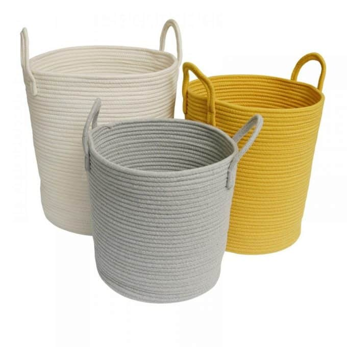 Cotton Rope Baskets - White